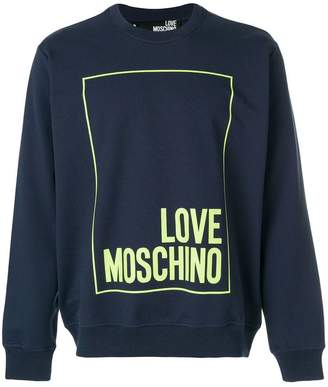 Love Moschino printed logo sweater