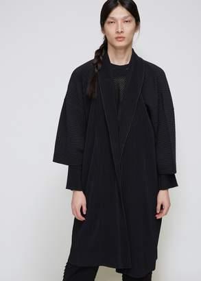 Issey Miyake Homme Plisse Pleated Robe Coat