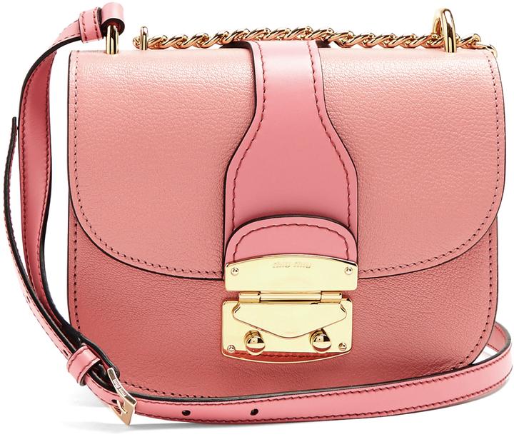 Miu MiuMIU MIU Chain-strap leather cross-body bag