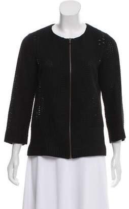 Lela Rose Patterned Wool-Blend Jacket