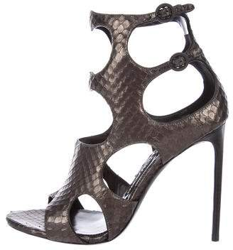Tom Ford Snakeskin Cutout Sandals