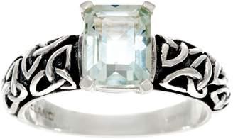 Solvar Sterling Silver Gemstone Trinity Knot Ring