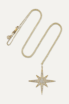 Sydney Evan Starburst 14-karat Gold Diamond Necklace