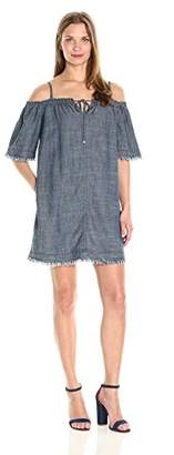 Trina Turk Women's Chill Crosshatch Chambray Dress