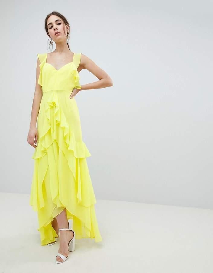 DESIGN ruffle maxi dress