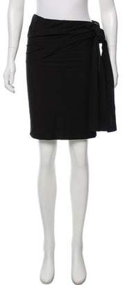 Charles Chang-Lima Knit Tie-Accented Skirt w/ Tags