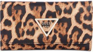 GUESS Lauri Animal-Print Slim Clutch Wallet