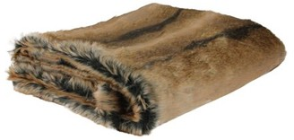 "Northlight Sophisticated Tawny Brown Faux Fur Super Soft Decorative Throw Blanket 50""x60"""