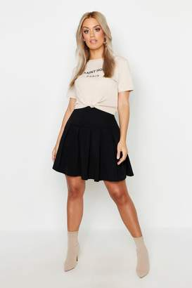 boohoo Plus Tennis Style Pleated Skater Skirt
