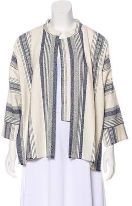 Giada Forte Striped Open-Face Jacket