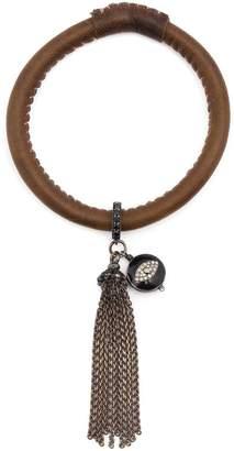 Loree Rodkin diamond eye charm tassel bracelt