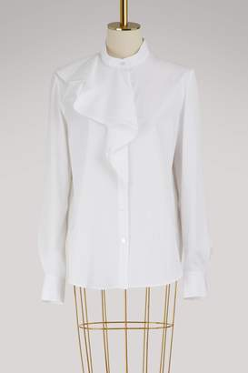 Lanvin Poplin frills shirt