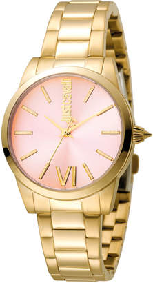 Just Cavalli 32mm Relaxed Bracelet Watch, Pink