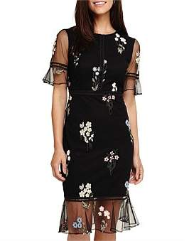 Phase Eight Ditsy Embroidered Dress