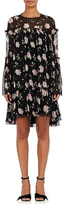 Ulla Johnson Women's Dahlia Rose-Print Silk Georgette Dress