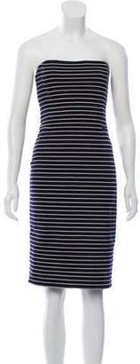 Michael Kors Striped Strapless Dress