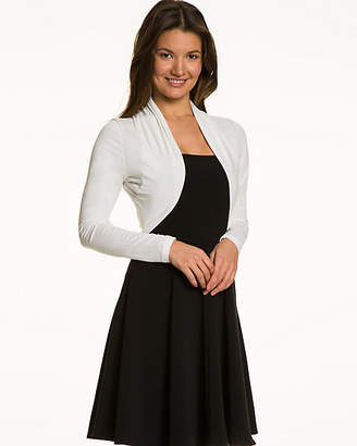 Le Château Sheer Knit Open-Front Long Sleeve Shrug