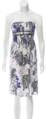 Fendi Strapless Printed Dress