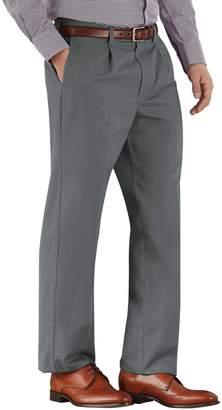 Charles Tyrwhitt Grey Classic Fit Single Pleat Non-Iron Cotton Chino Pants Size W32 L30