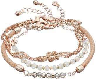 Lauren Conrad Beaded, Woven & Knotted Bracelet Set