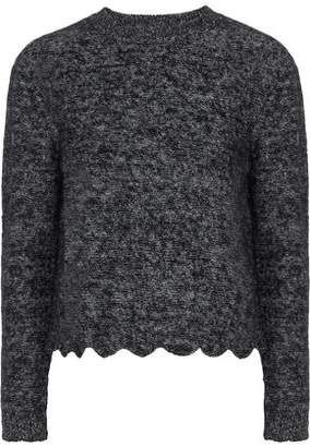 RED Valentino Scalloped Marled Knitted Sweater