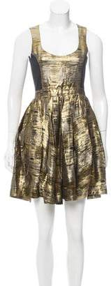 ADAM by Adam Lippes Pleated Brocade Dress