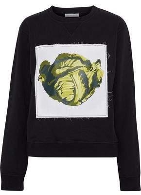 J.W.Anderson Appliquéd Cotton-Fleece Sweatshirt