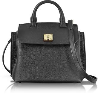 MCM Black Park Avenue Leather Milla Small Crossbody