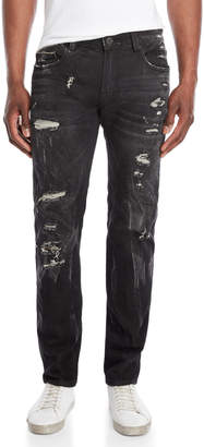 Cult of Individuality Greaser Moto Distressed Jeans