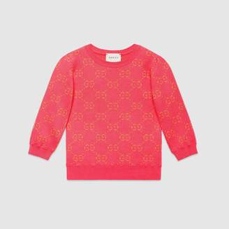 Gucci Children's GG cotton lame jumper