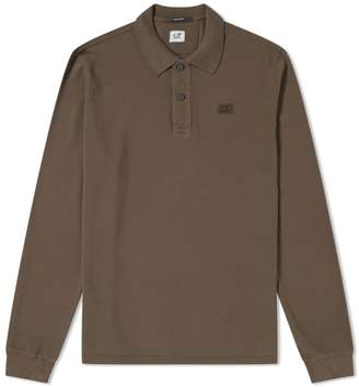 C.P. Company Long Sleeve Patch Logo Polo