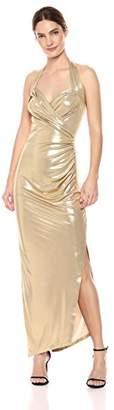 Norma Kamali Women's Halter Sweetheart Side Drape Gown