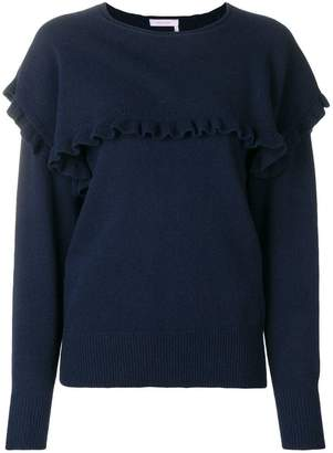 See by Chloe round neck ruffle sweater