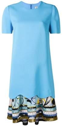 Emilio Pucci embroidered hem T-shirt dress