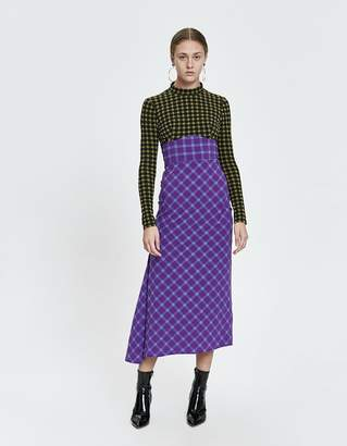Rachel Comey Long Stretchy Plaid Converge Dress