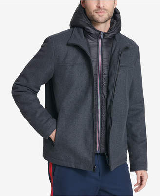 Tommy Hilfiger Men's Full-Zip Hooded Wool Jacket