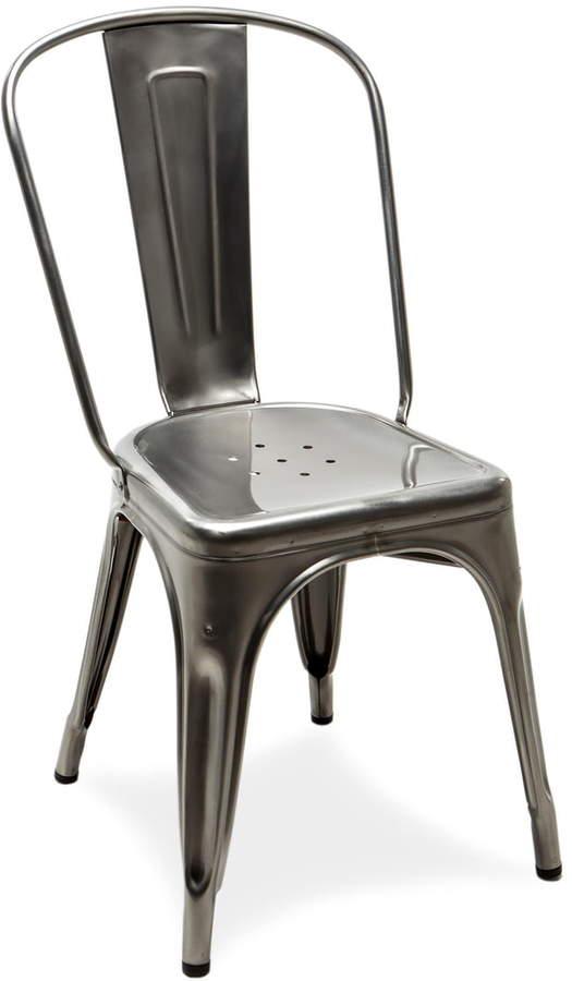 Tolix - A Chair Outdoor, Stahl glänzend