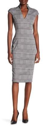 Alexia Admor V-Neck Midi Dress