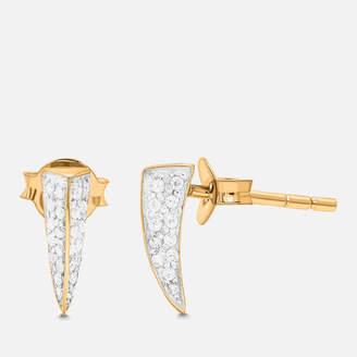 Missoma Women's Dagger Pave Stud Earrings - Gold