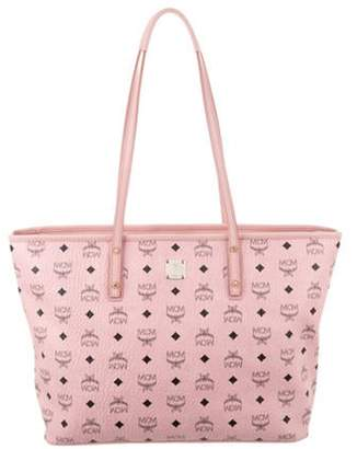 MCM Visetos Shopper Tote Pink Visetos Shopper Tote