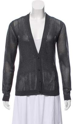 Prada Silk Knit Cardigan