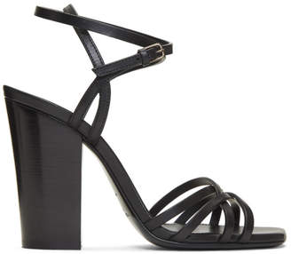 Saint Laurent Black Oak Jodie Sandals