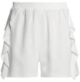 Goen.j Ruffle-Trimmed Crepe Shorts