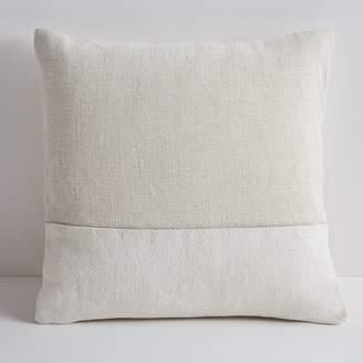 """west elm Cotton Canvas Pillow Cover 18""""x18"""" - Stone White"""