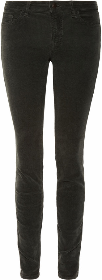J Brand 511 mid-rise corduroy skinny jeans