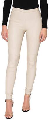 9b9b0f7044bdaa LAMARQUE Kelly Leather Skinny Ankle Pants
