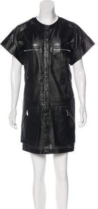 Barbara Bui Perforated Mini Dress