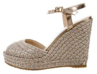 Jimmy Choo Metallic Wedged Espadrilles