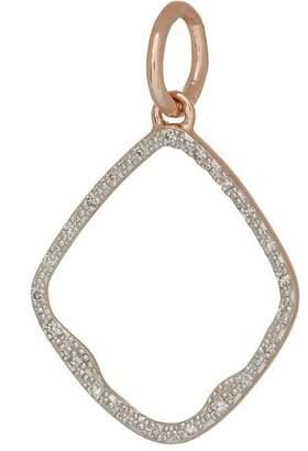 Monica Vinader Rose Gold Vermeil Diamond Riva Hoop Pendant