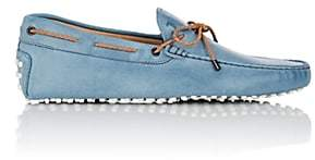 Tod's MEN'S BRAIDED-TIE LEATHER DRIVERS